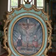 Altorėlis su Nukryžiuotojo ir Šv. Pranciškaus paveikslais